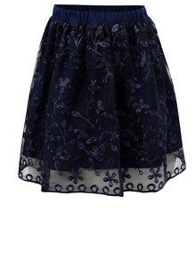 Tmavě modrá sukně s květovanou výšivkou  5.10.15.