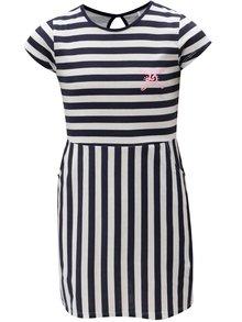 Bílo-modré pruhované šaty s kapsami 5.10.15.