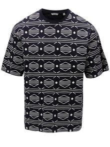 Tricou albastru inchis cu model ONLY & SONS African