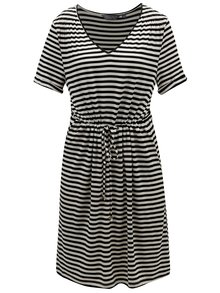 Krémovo-čierne pruhované šaty Dorothy Perkins Tall