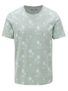 Světle zelené tričko s potiskem Jack & Jones Jason