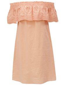 Marhuľové šaty s odhalenými ramenami Dorothy Perkins