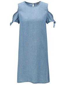 Modré šaty s prestrihmi na ramenách Dorothy Perkins