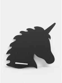 Černá tabule ve tvaru jednorožce Sass & Belle Unicorn Silhouette