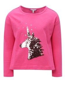 Ružové dievčenské tričko s magickými flitrami Tom Joule Jersey
