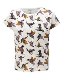 Bílé holčičí tričko s potiskem ptáků name it Vilske