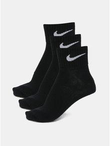 Súprava troch členkových párov ponožiek v čiernej farbe Nike