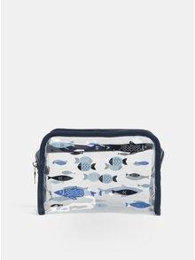 Transparentná kozmetická taška s potlačou rýb CGB