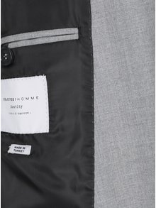 Světle šedé oblekové sako Selected Homme Newone