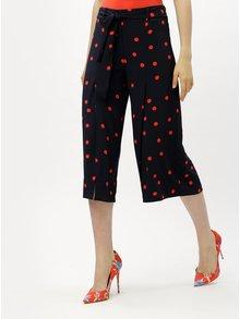 Červeno-modré culottes s vysokým pásom ONLY Michelle