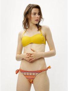 Oranžovo-žlté dvojdielne vzorované plavky ZOOT