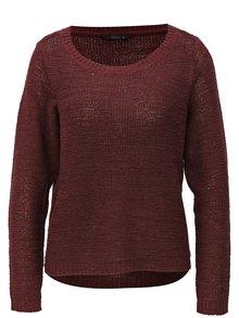 Vínový sveter ONLY Geena