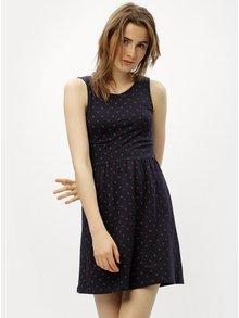 Červeno-modré šaty s průstřihem na zádech ONLY Olivia