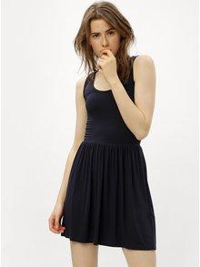 Tmavomodré šaty s prestrihom na chrbte ONLY Rina