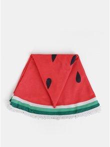Zeleno-červená kulatá osuška s motivem melounu ZOOT