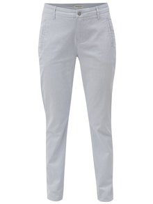 Pantaloni chino alb-albastru in dungi Selected Femme Falma