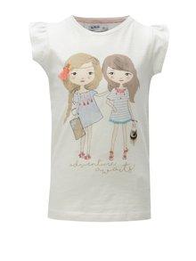 Krémové dievčenské tričko s potlačou 5.10.15.