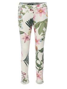 Pantaloni sport albi cu model floral Haily´s Jada