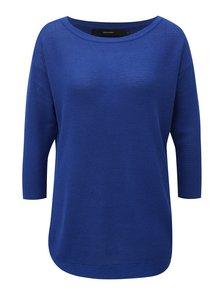 Modrý tenký oversize sveter s 3/4 rukávom VERO MODA Sana