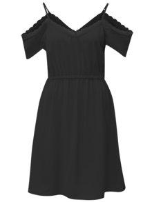 Černé šaty s odhalenými rameny Haily´s Elea