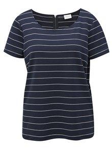 Tmavomodré pruhované tričko VILA Tinny