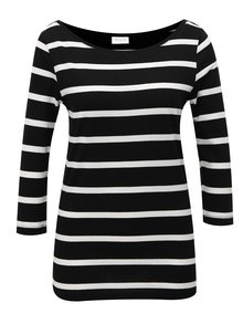 Tricou alb-negru in dungi VILA Striped