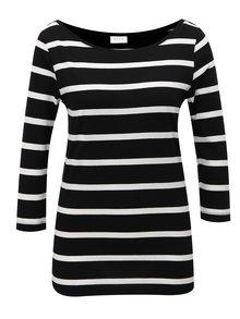 Bielo-čierne pruhované tričko VILA Striped