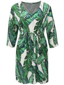 Bílo-zelené vzorované šaty s 3/4 rukávem Haily´s Linea
