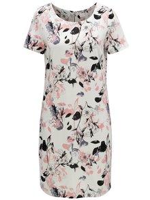 Ružovo-biele kvetované šaty VILA Tinny