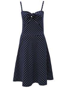 Tmavě modré šaty s puntíky Dorothy Perkins Tall