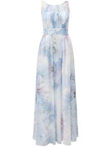Rochie maxi albastra cu top plisat Dorothy Perkins