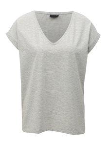 Sivé melírované voľné tričko VILA Dreamers