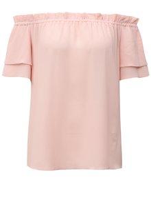 Bluza roz cu decolteu pe umeri Dorothy Perkins