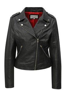 Jacheta neagra din piele naturala VILA Becky