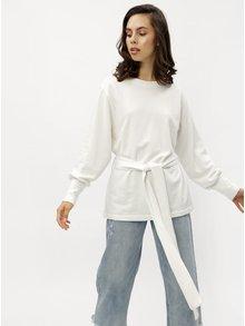 Bluza sport alba lunga cu cordon Jacqueline de Yong