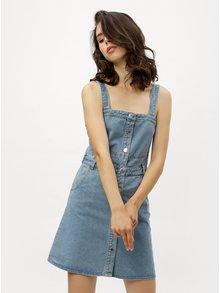Modré rifľové šaty s gombíkmi Miss Selfridge