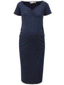 Tmavomodré puzdrové tehotenské šaty Dorothy Perkins Maternity