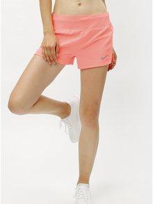 Neónovooranžové dámske funkčné kraťasy Nike Eclipse