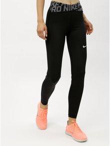 Černé dámské funkční legíny s pásy s logem v pase Nike Crossover