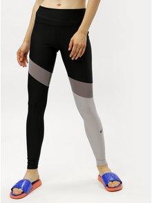 Sivo-čierne dámske funkčné legíny Nike  Poly