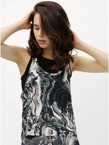 Bielo-čierne dámske oversize funkčné tielko Nike Tank Coral Print