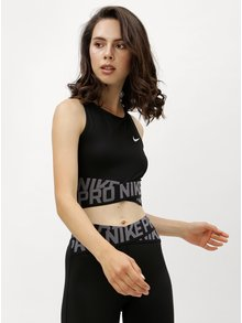 Top functional negru crop Nike Crossover