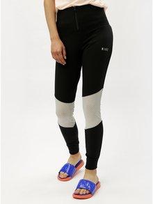 Čierne dámske legíny so zipsom a vysokým pásom Nike