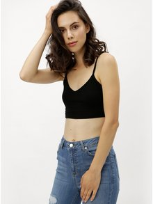Top negru crop Miss Selfridge
