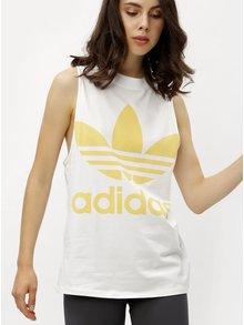 Biele dámske tielko s potlačou adidas Originals