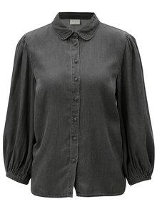 Sivá rifľová košeľa VILA Bista