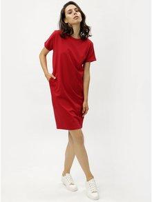 Červené puzdrové šaty s vreckami ZOOT