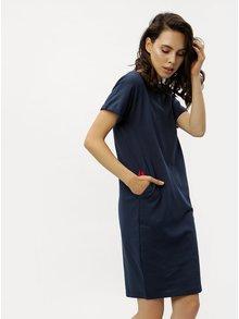Tmavomodré puzdrové šaty s vreckami ZOOT