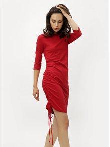 Červené šaty s 3/4 rukávem ZOOT