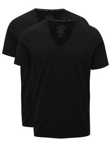 Set de 2 tricouri negre basic slim fit Calvin Klein